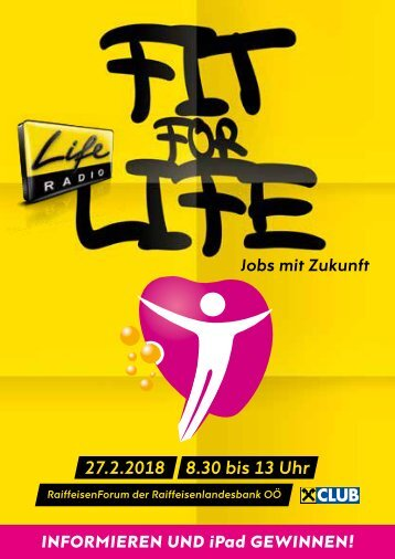 Fit for Life Broschüre 2018
