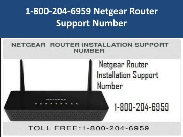 1-800-204-6959 Netgear Router Support Number