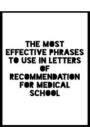 The Most Effective Phrases to Use in Letters of Recommendation for Medical School