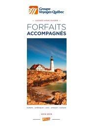 Brochure Forfaits accompagnés - édition février 2018