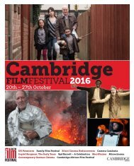 2016 Cambridge Film Festival Brochure