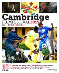 2015 Cambridge Film Festival Brochure