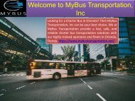 Best Charter Bus Service in Orlando
