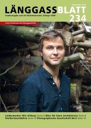 Länggassblatt 234 - September 2015