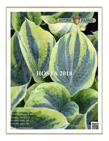 2018 Hostas - Acorn Farms