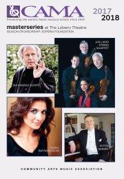CAMA's Masterseries presents Peter Serkin, piano - Saturday, February 24, 2018, Lobero Theatre, Santa Barbara, 8PM