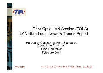 LAN Standards, News & Trends Report - (FOLS).