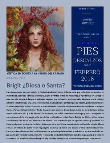 Gaceta 6, febrero 2018: Brigit, ¿Diosa o Santa?