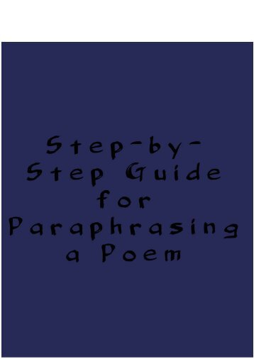 Step-by-Step Guide for Paraphrasing a Poem