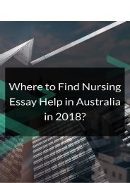 Where to Find Nursing Essay Help in Australia in 2018?