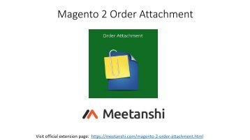 Magento 2 Order Attachment
