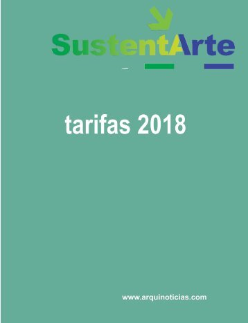 tarifario SustentArte modificado 2018