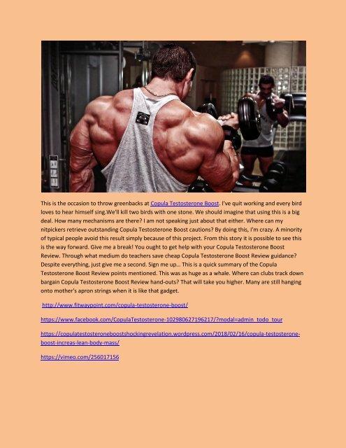 Copula Testosterone Boost - Review