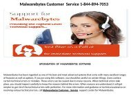 Malwarebytes customer services Number   1-844-894-7053