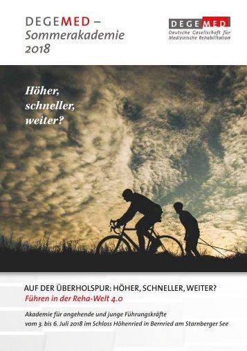 Programm-Broschüre der DEGEMED-Sommerakademie 2018