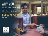 Why You Need to Sell Your Items at a Pawn Shop