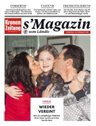 s'Magazin usm Ländle, 18. Februar 2018