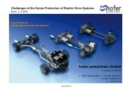 Optimized control of the electrical machine - hofer powertrain GmbH