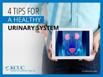 Urology Care - 4 Simple Urinary Health Tips You Should Know