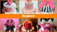 Best Customized Cake Shops for Kids Birthday Party in Bangalore