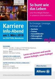Karriere Info-Abend Mannheim am 1.3.2018 um 18 Uhr