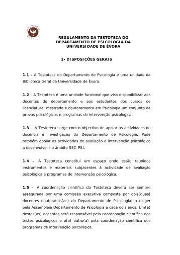 Regulamento Testoteca (BGUE)