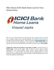 Why Choose ICICI Bank Home Loan for Your Dream Home