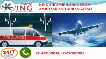 king air ambulance from amritsar and aurangabad