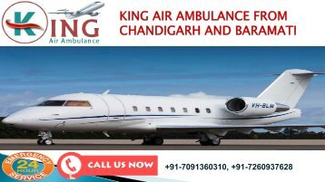 king air ambulance from chandigarh and baramati