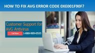 Call 1-888-909-05385 to Fix AVG Antivirus Error 0XE001F90F