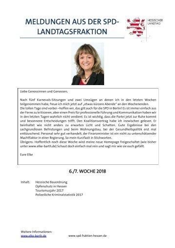 Meldungen aus der SPD-Landtagsfraktion (6)