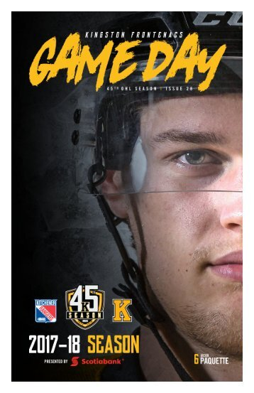 Kingston Frontenacs GameDay February 18, 2018