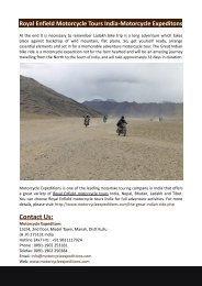 Royal Enfield Motorcycle Tours India-Motorcycle Expeditons
