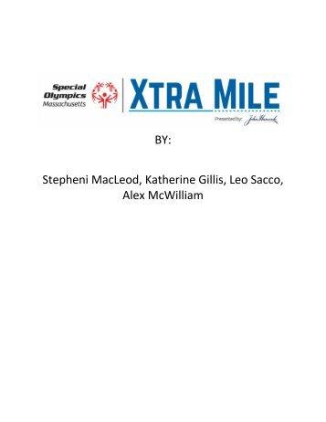 Special Olympics of MA media kit