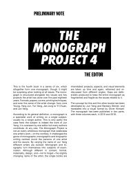 The Monograph Project, Band 4–6