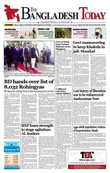 The Bangladesh Today (17-02-2018)