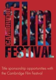 Cambridge Film Festival 2018 Sponsorship Document