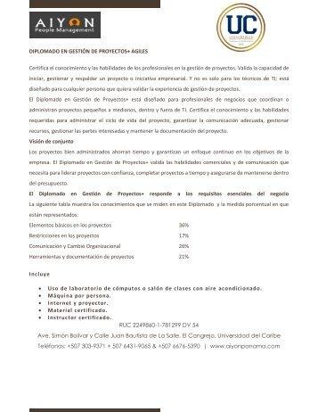 DIPLOMADO EN GESTION DE PROYECTOS+ AGILES.MEF