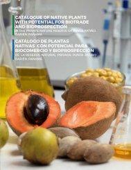 Catálogo de plantas nativas con potencial para biocomercio y bioprospección de la Reserva Natural Privada Punta Patiño