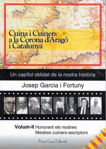 """Resumen Cuina i Cuiners - Volum II – """"Honorant els nostres Mestres cuiners-escriptors""""-"""