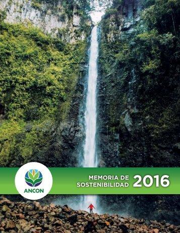ANCON_-_Memoria de Sostenibilidad - 2016