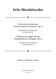 Mendelssohn (arr. Lee): A Midsummer Night's Dream Wedding March (abrgd.) for String Quartet, Op. 61