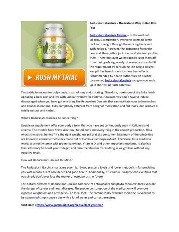 Reducelant Garcinia - The Natural Way to Get Slim Fast