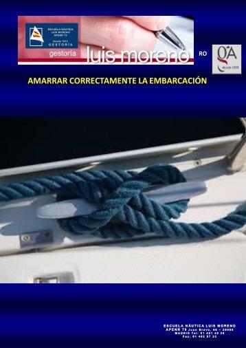 AMARRAR CORRECTAMENTE LA EMBARCACIÓN - Alvarez