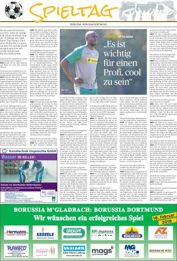 Spieltag: Borussia - Borussia Dortmund  -17.02.2018-