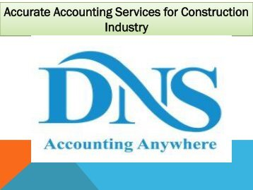 Accurate Accounting Services for Construction Industry