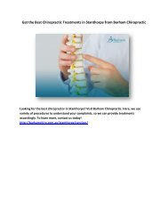 Get the Best Chiropractic Treatments in Stanthorpe from Barham Chiropractic
