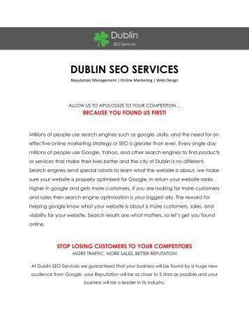 Dublin SEO Services