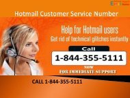 1-844-355-5111 Hotmail Customer Service Number