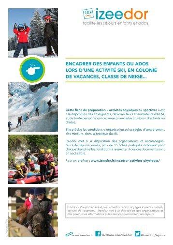 Faire du ski avec des enfants ou ados et les encadrer